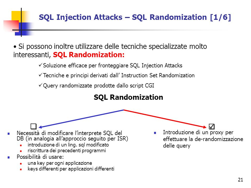 SQL Injection Attacks – SQL Randomization [1/6]